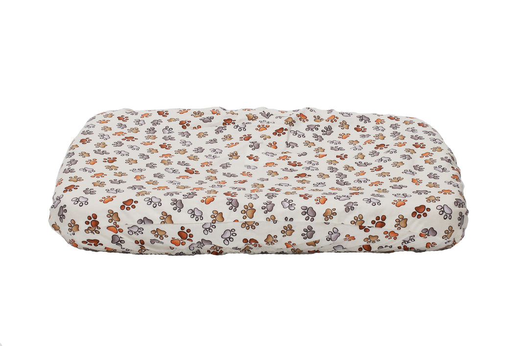 Flat Pet Bed Cover - Paws Everywhere