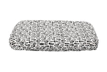 Memory foam cat bed cover with black fishbones