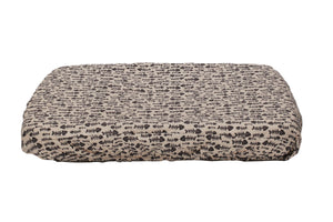 cat bed cover with beige fish bones
