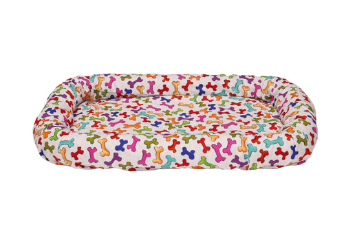dog bone crate bed cover