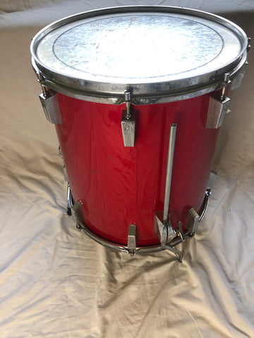 Sonor Phonic Red Floor Tom owned by Alphonse Mouzon 9-ply 15x18""