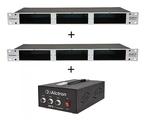 Alctron Rack3 500 Series Rack x2 w/ MPS-1 Power Supply 3-space 19""