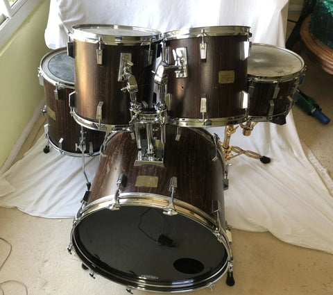 Vintage Sonor Horst Link Signature Makassar Ebony 5-Piece Drum Kit Owned by Alphonse Mouzon