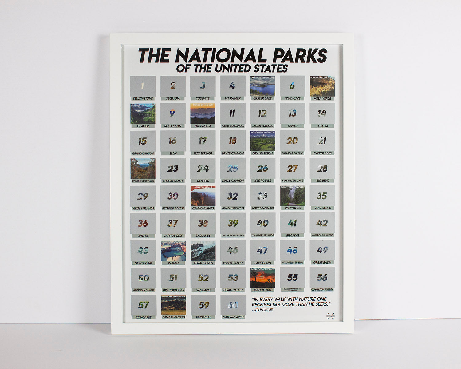 national park scratch off poster