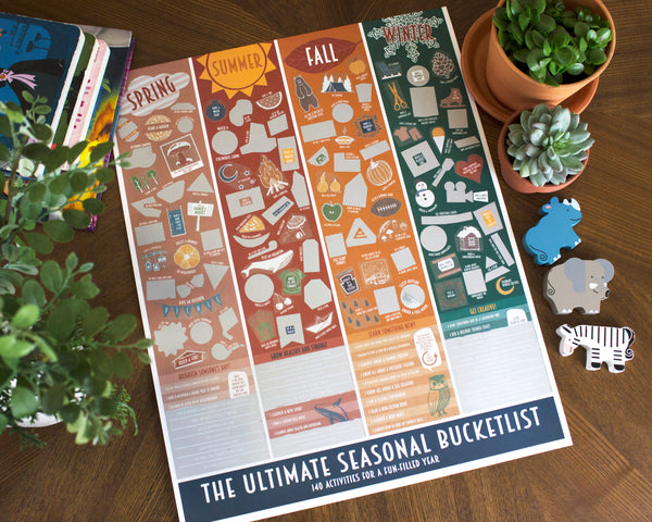 Kids Seasonal Bucket List Scratch Off Poster