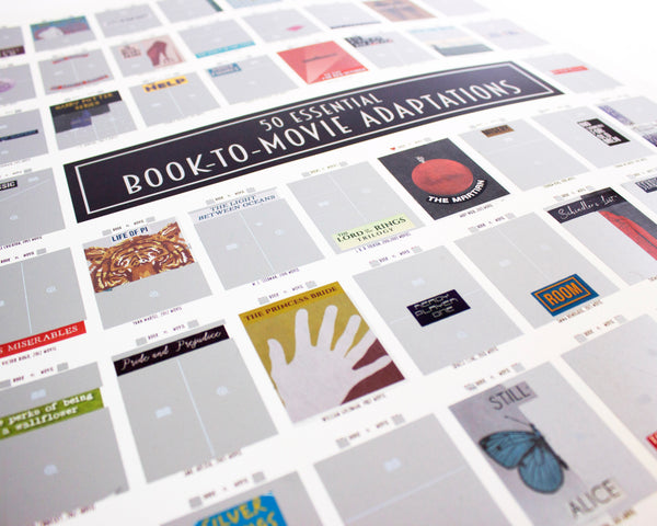 Book-to-Movie Scratch Off Poster