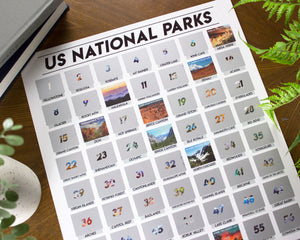 National Parks Scratch-Off Poster