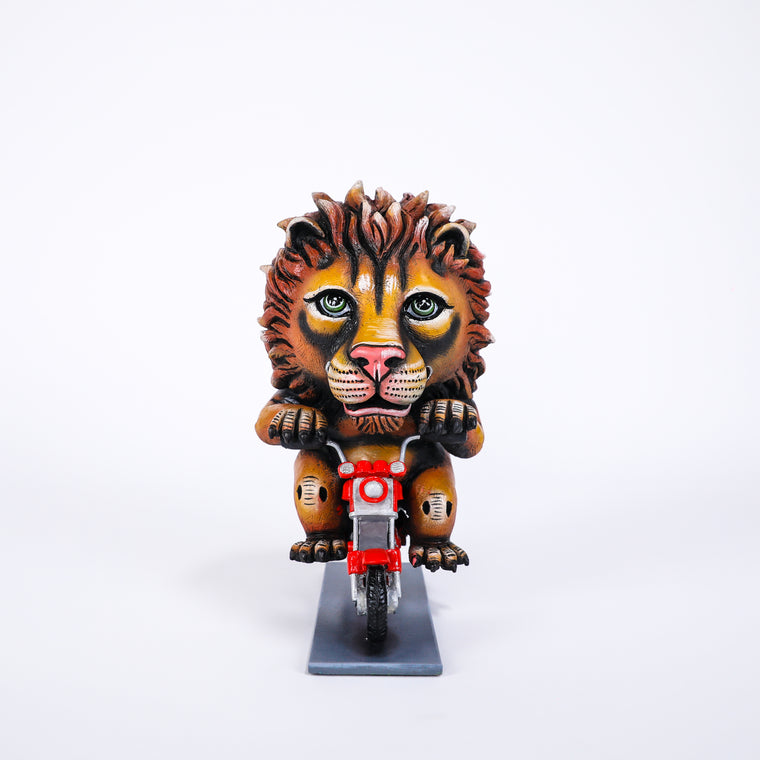 CA Lion on Motorcycle