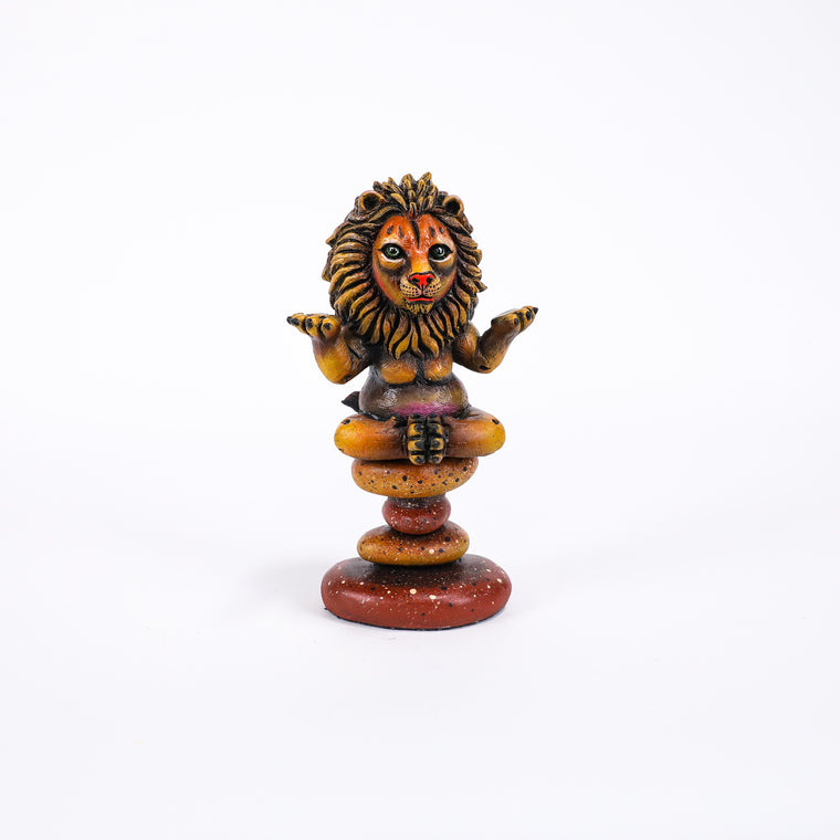 Meditating Lion - Mini