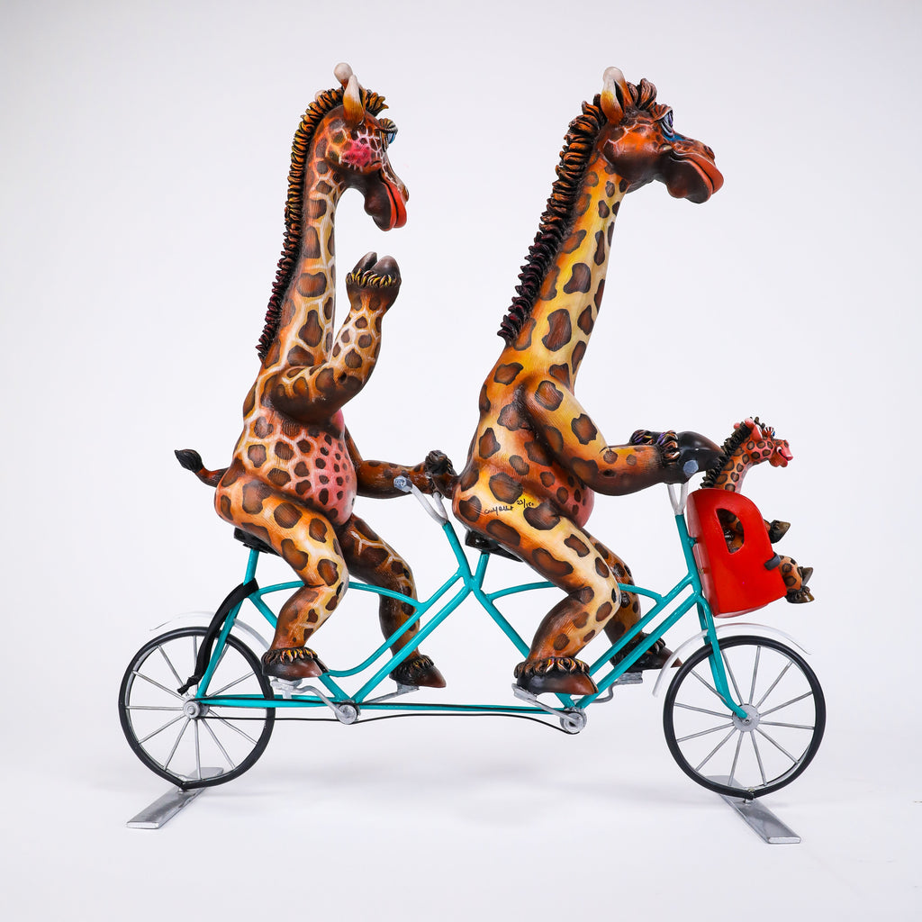 Giraffe Bike Family