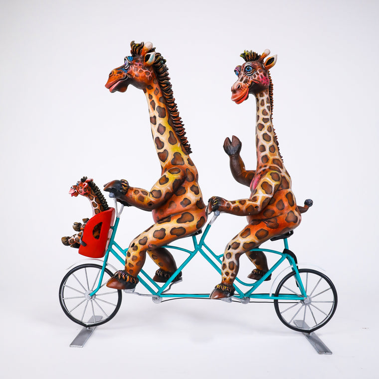 CA Giraffe Family on Bike