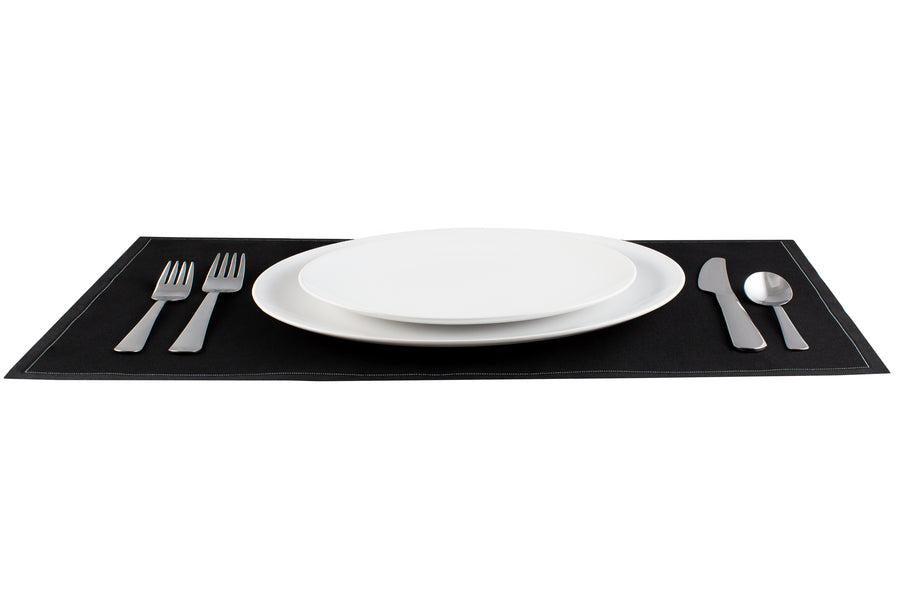 Cotton Placemat - Black