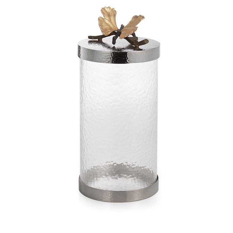 Butterfly Ginkgo Canister Large
