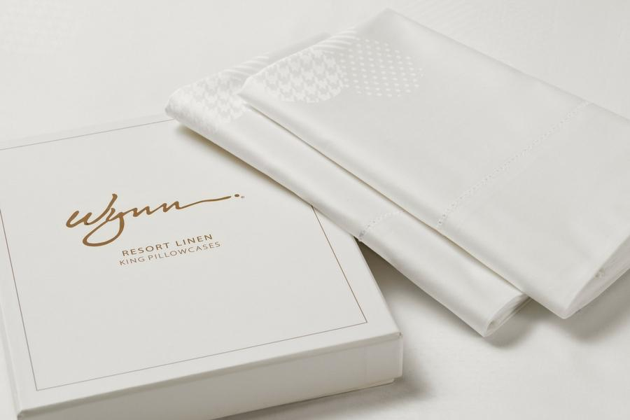 Wynn Resorts Down Pillowcase Cover Pair - Gift Boxed