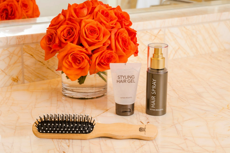 Wynn Resorts Hair Gel, Hair Spray and Hair Brush