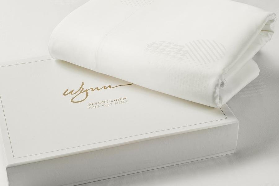 Wynn Resorts King Flat Sheet - Gift Boxed