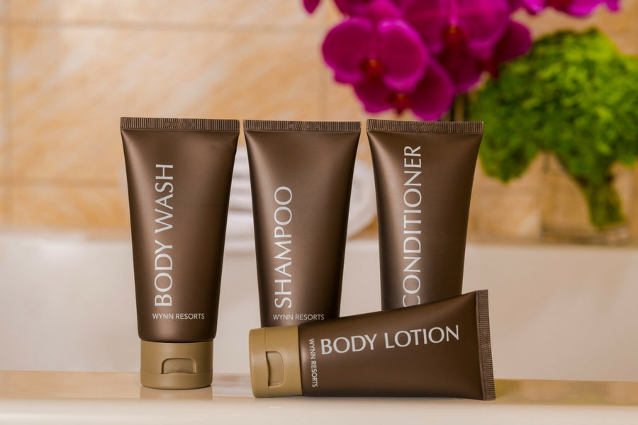 Wynn Resorts Travel Kit Collection (Shampoo, Conditioner, Lotion and Body Wash)