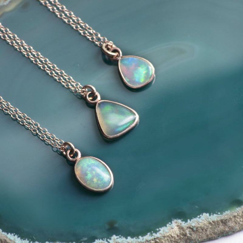 Rose Gold Ethiopian Opal Necklace