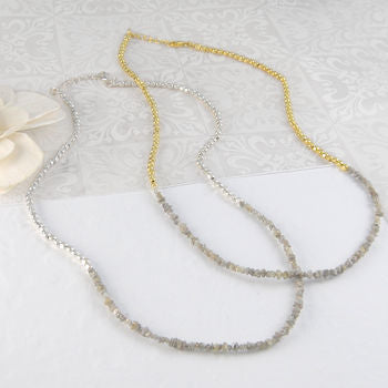 April Diamond Wedding Gold/Silver Necklace