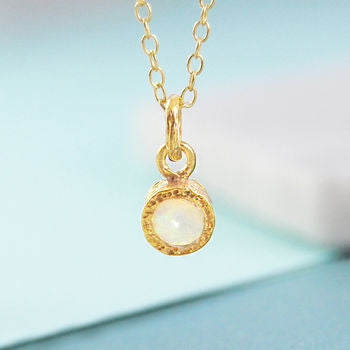 5d3f21a863e78 Gold Opal October Birthstone Necklace