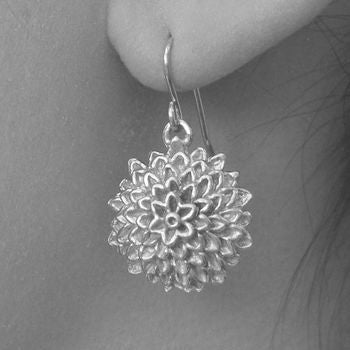 Rose Gold Sunflower Drop Earrings