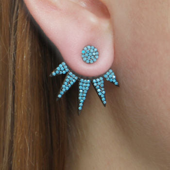 Sterling Silver Turquoise Liberty Ear Jackets