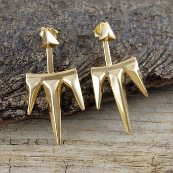 Sterling Silver Two Way Earring Jackets