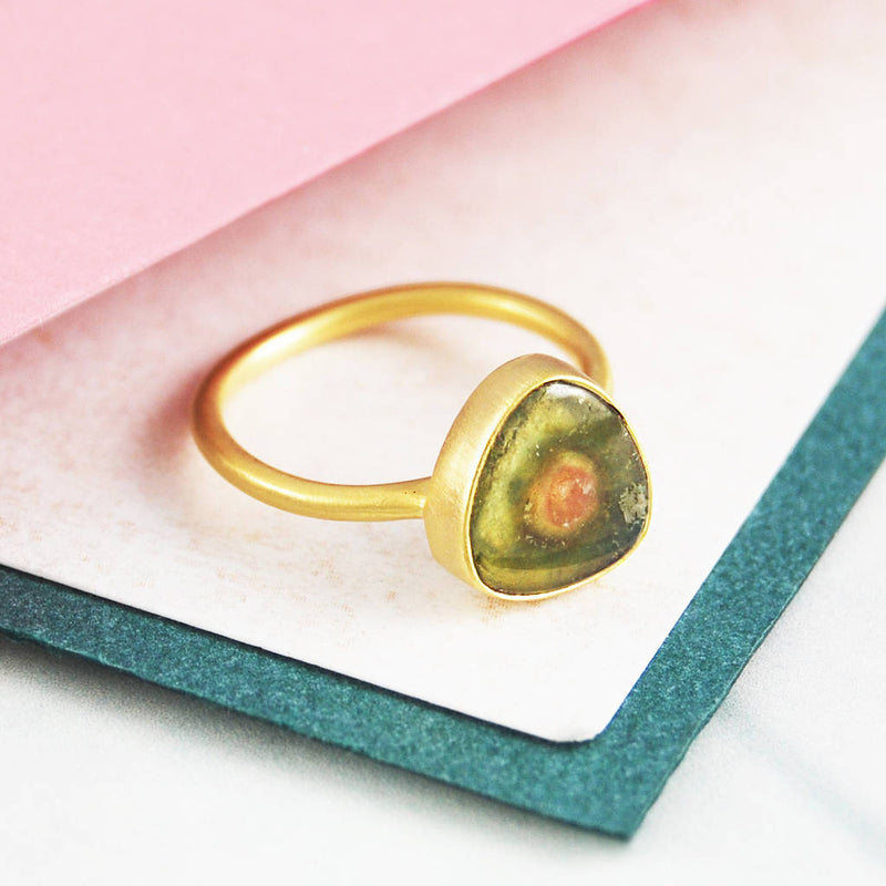 Precious Watermelon Tourmaline Ring