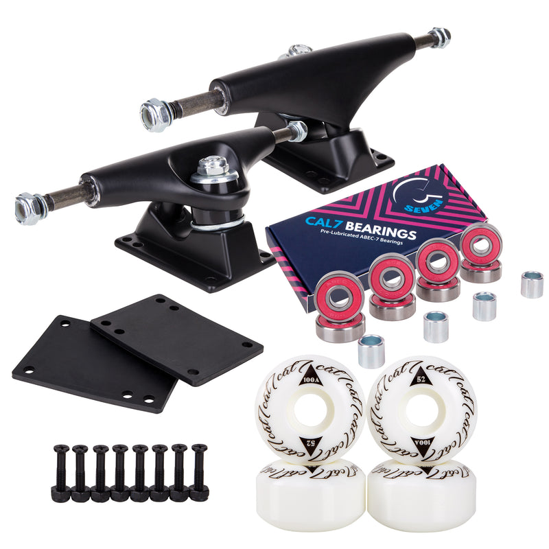 Skateboard Setup Combo | Matte Black Trucks & 100A Wheels