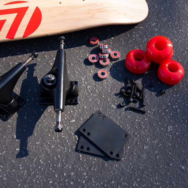 Skateboard Setup Combo | Matte Black Trucks & 99A Wheels