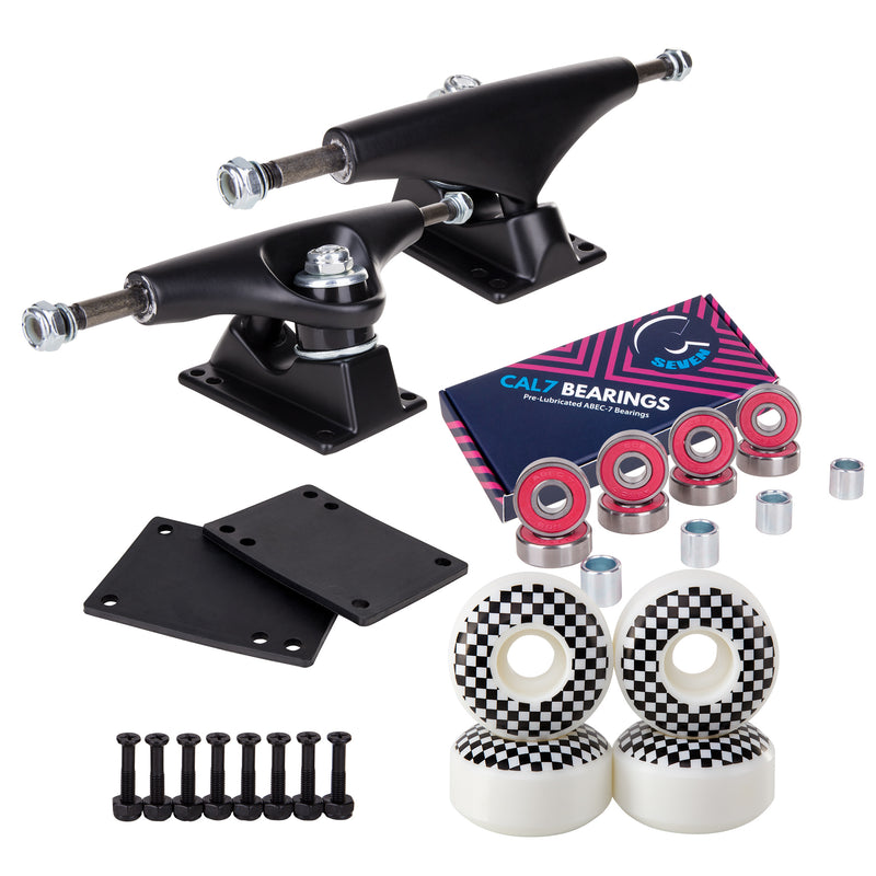 Skateboard Setup Combo | Black Trucks & 99A Wheels