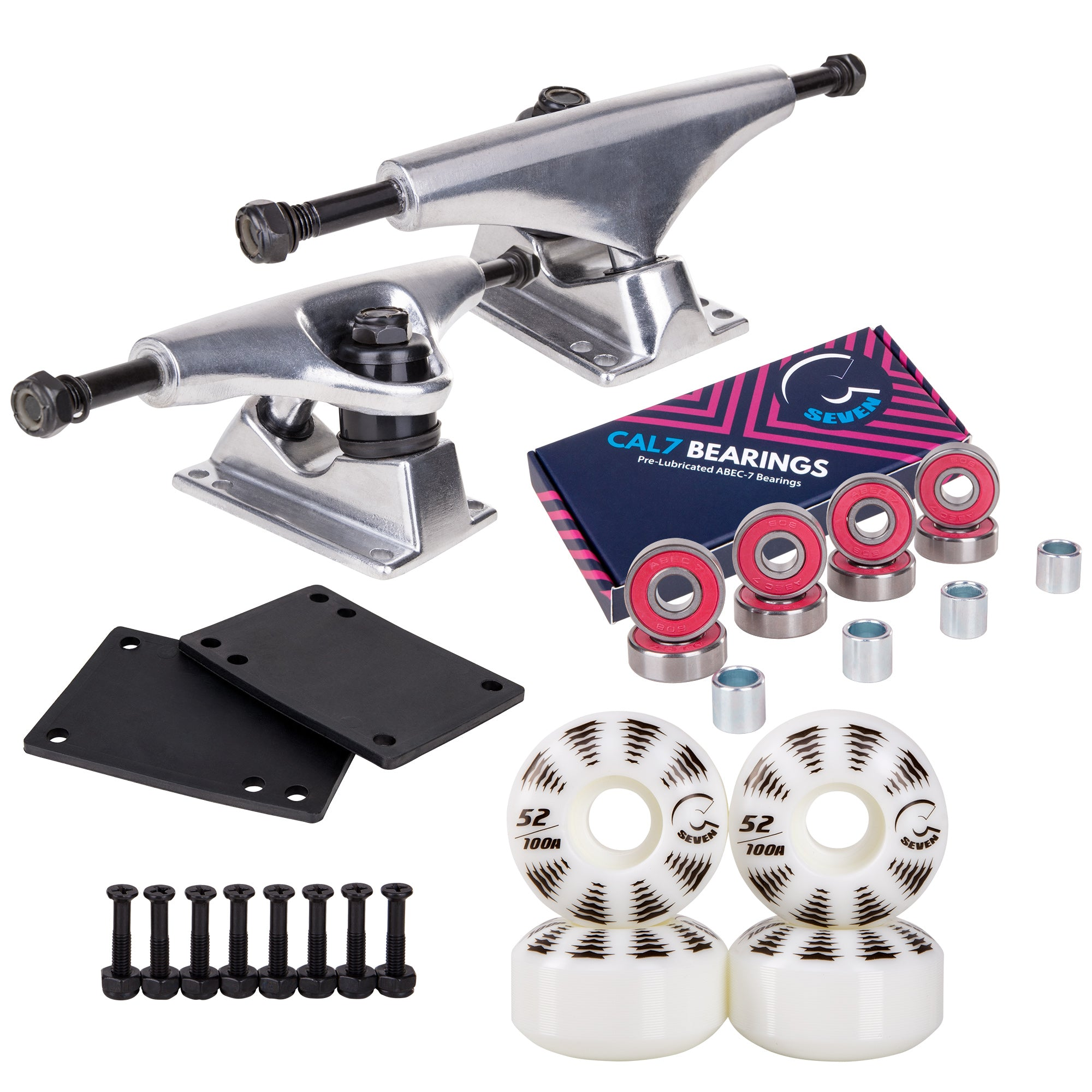 Skateboard Setup Combo | Silver Trucks & 100A Wheels