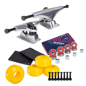 Skateboard Setup Combo | Silver Trucks & 99A Wheels