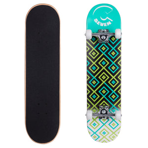 "Cal 7 8"" Maze Popsicle Double Kicktail Complete Skateboard"