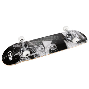 black and white Cal 7 complete 8-inch Anatomy skateboard deck