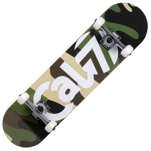 Cal 7 Complete 7.5/7.75/8-Inch Skateboard Brigadier with Camouflage Graphic
