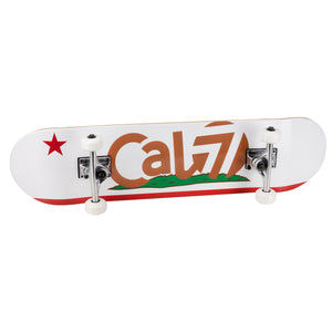 Cal 7 Complete 8-Inch Skateboard with California Flag graphics