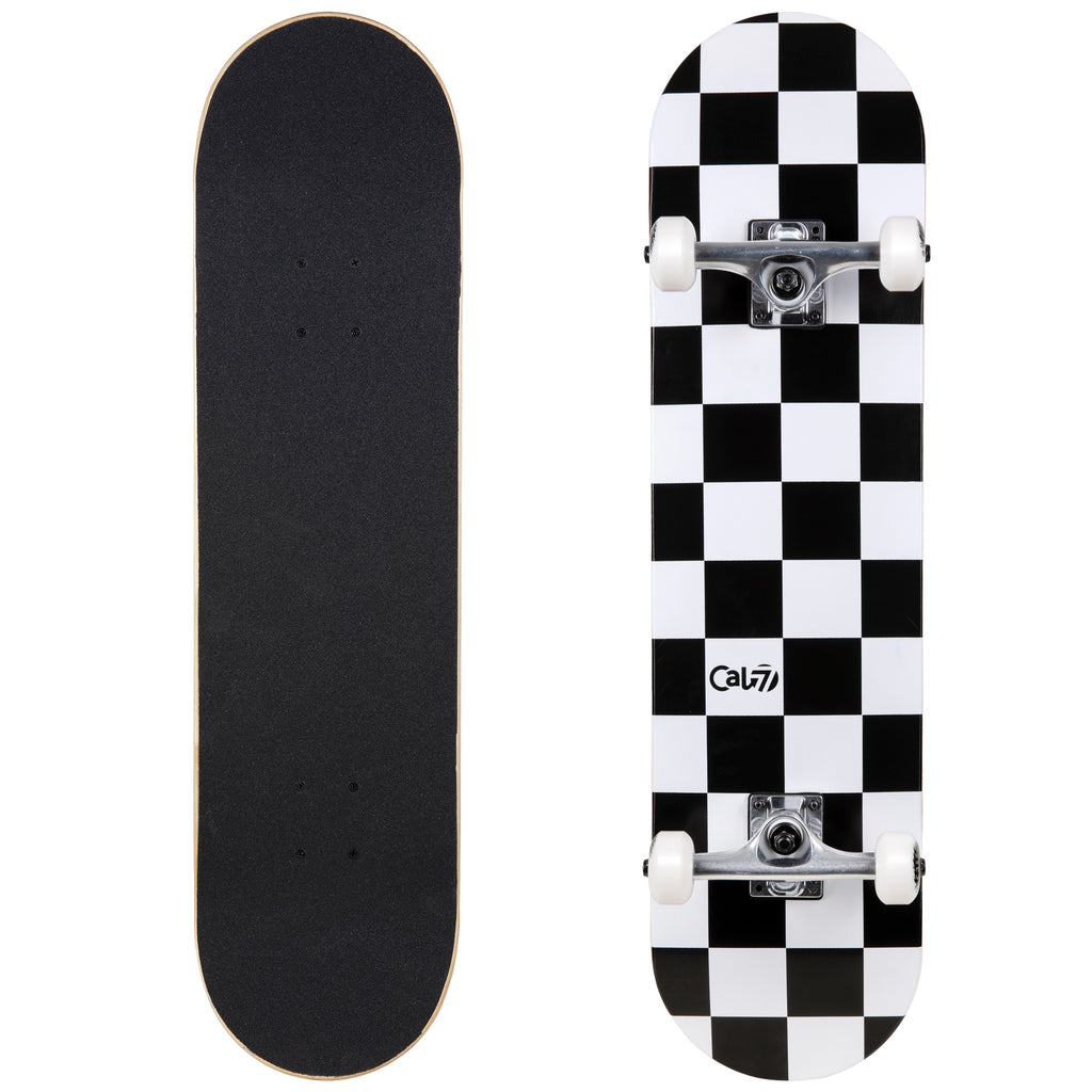 Cal 7 Complete 7.5/7.75/8-Inch Skateboard Checkmate with Check Design
