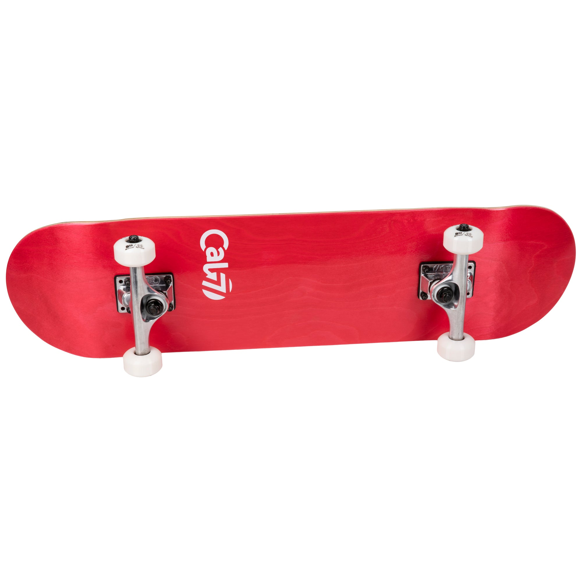Cal 7 Complete 7.5/7.75/8-Inch Skateboard Crimson with Logo and Red Stain