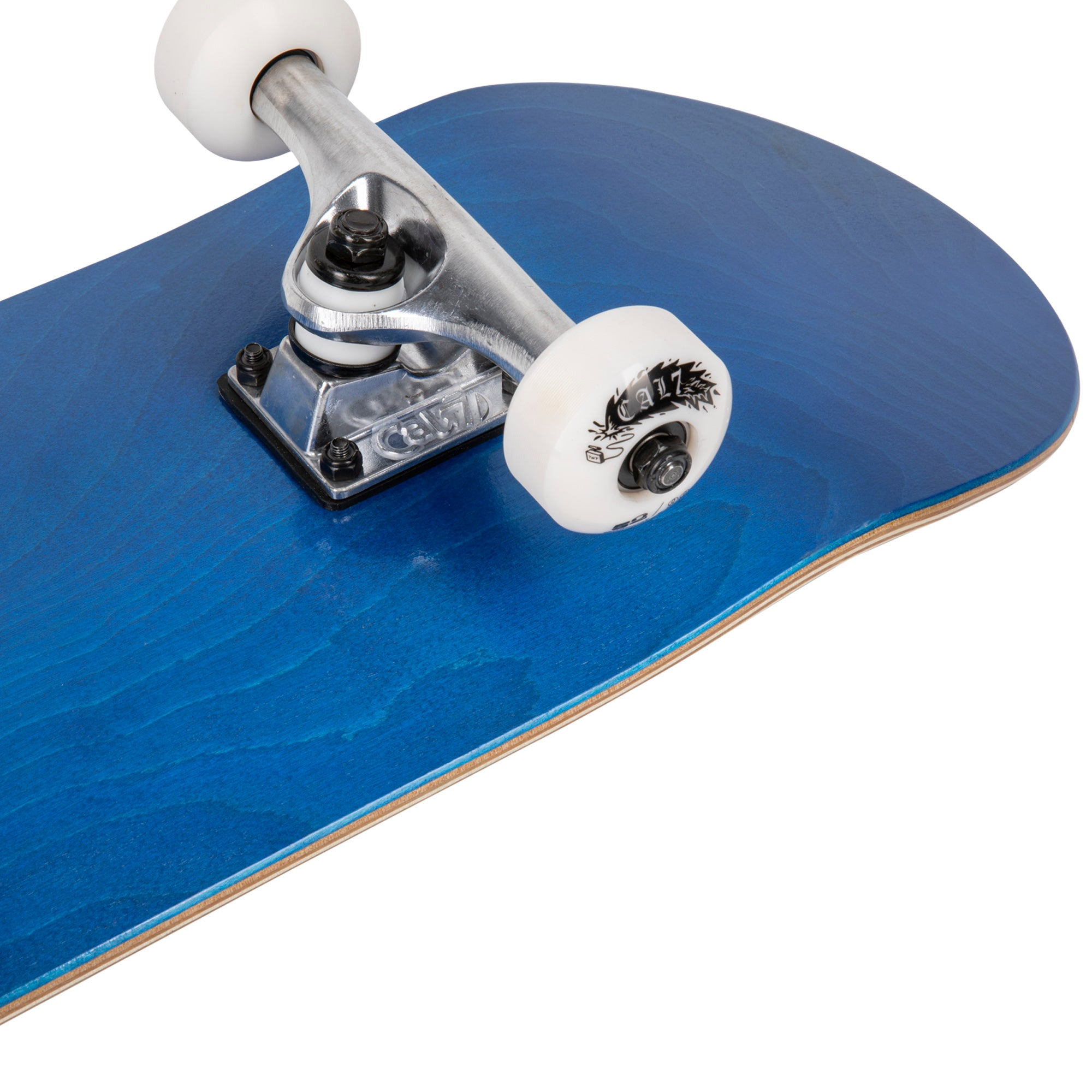 Cal 7 Complete 7.5/7.75/8-Inch Skateboard Current with Logo and Blue Stain
