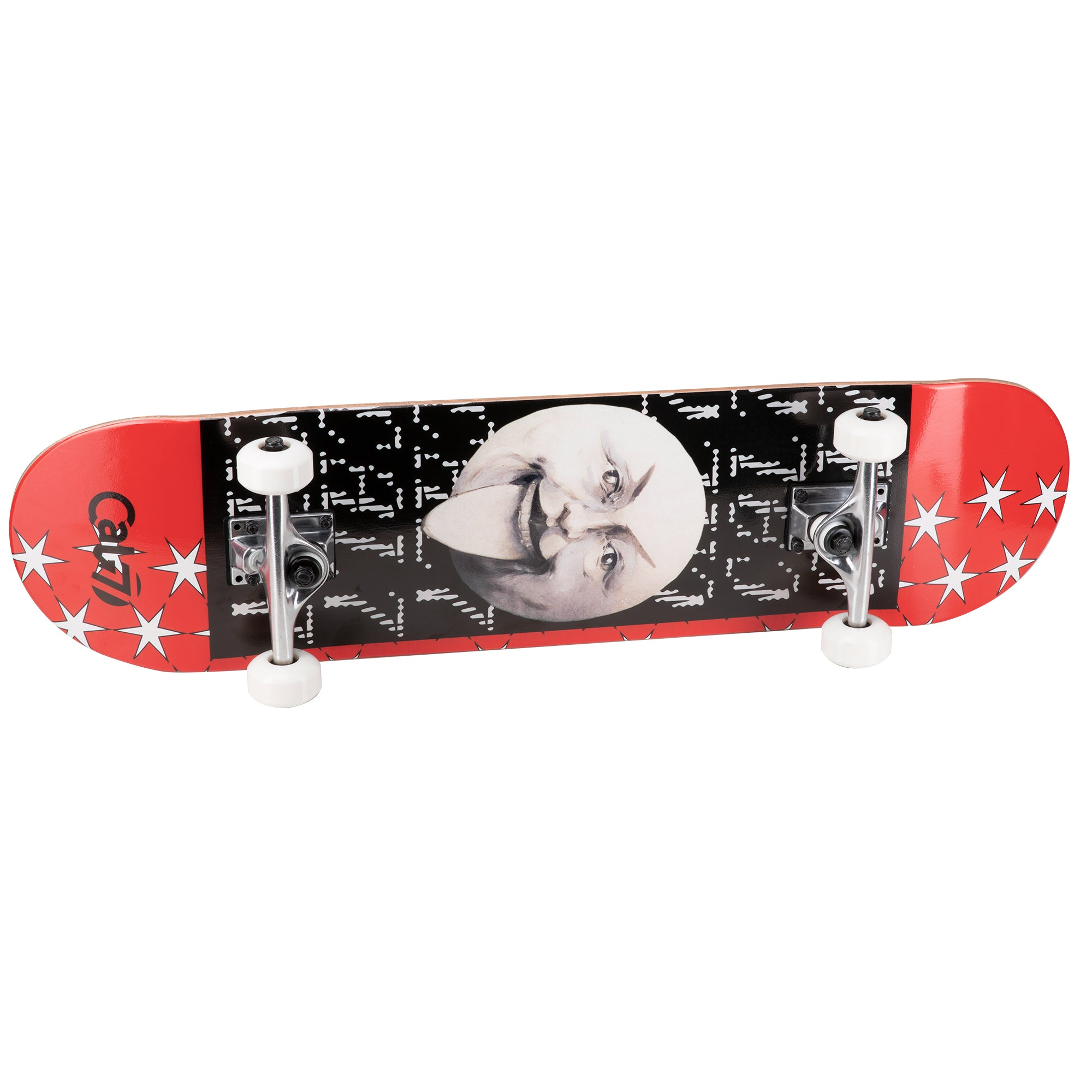 Cal 7 complete 8.0 inch Dogma skateboard with black and red graphics