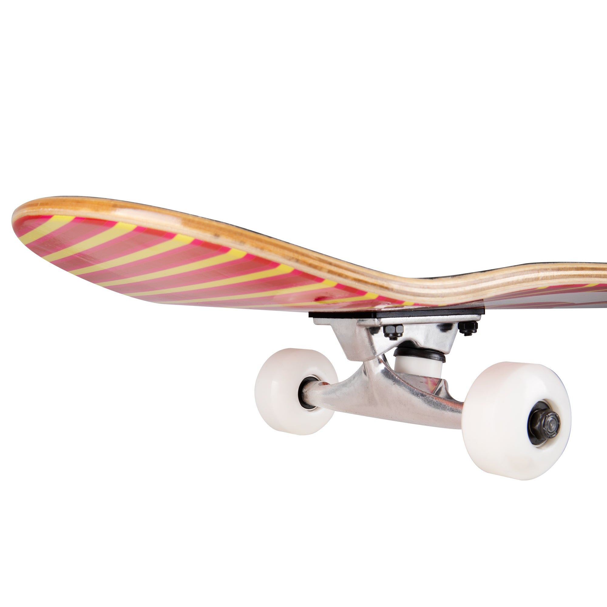 Red-orange Cal 7 complete 8-inch Delirium skateboard