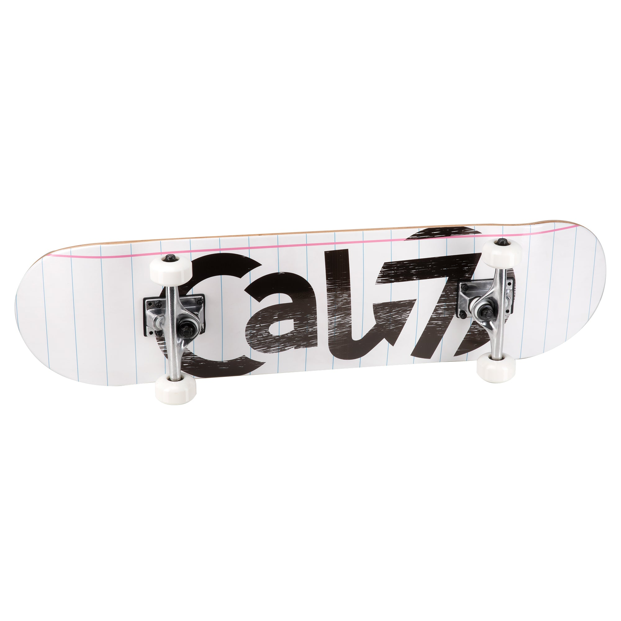 Cal 7 complete 8-inch Dropout skateboard with notebook graphic