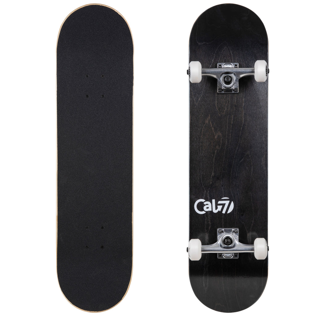 Cal 7 Complete 7.5/7.75/8-Inch Skateboard Midnight with Logo and Dark Stain