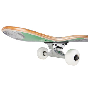 Cal 7 Complete 8.0 Inch Millennium Skateboard in green and blue colorway