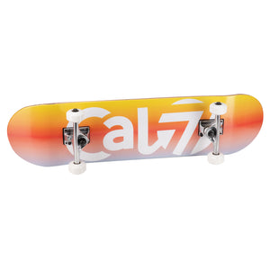 Cal 7 complete 8-inch skateboard with blue, red and yellow Nova graphic