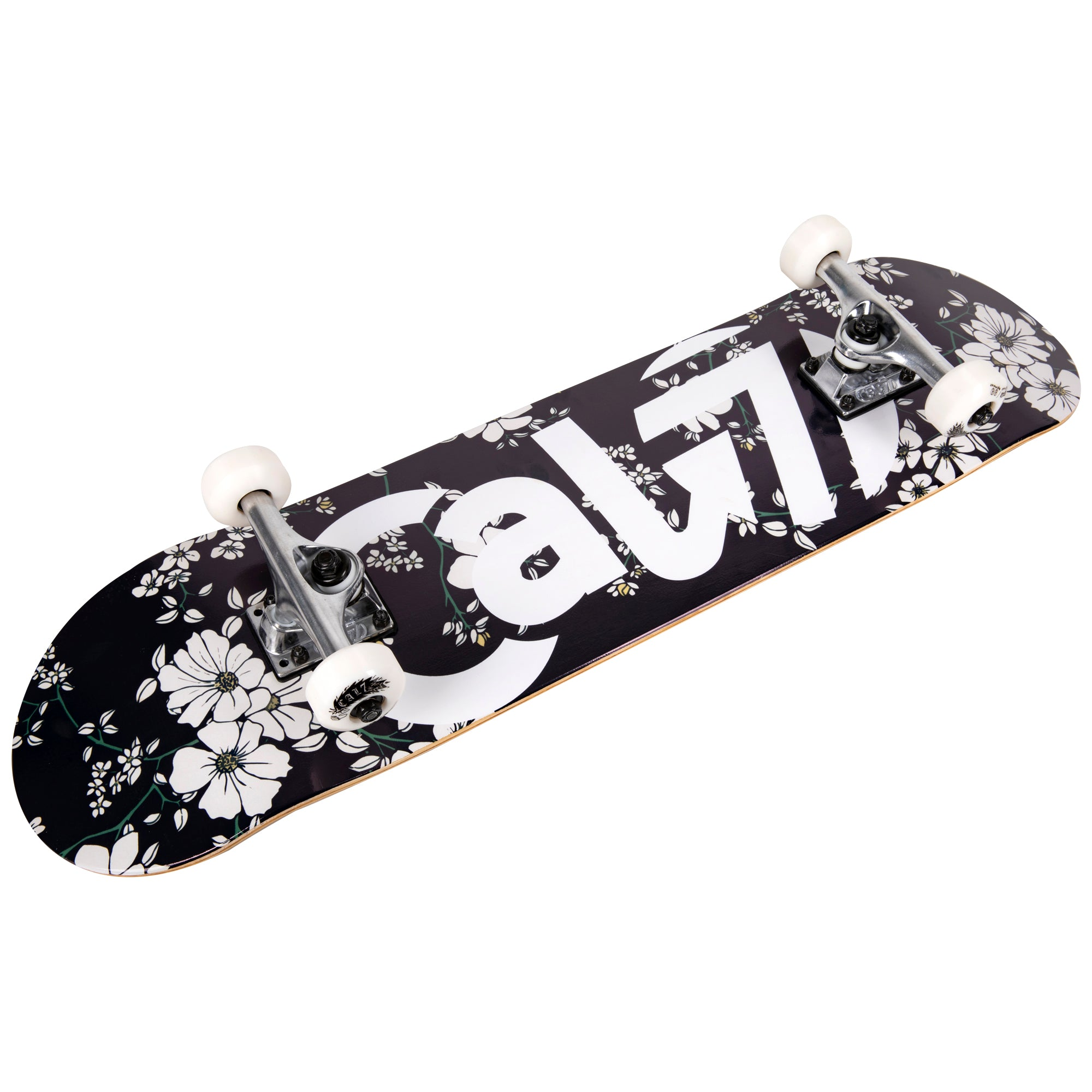 Cal 7 Complete 7.5/7.75/8-Inch Skateboard Petal with Logo and Floral Vine Graphic