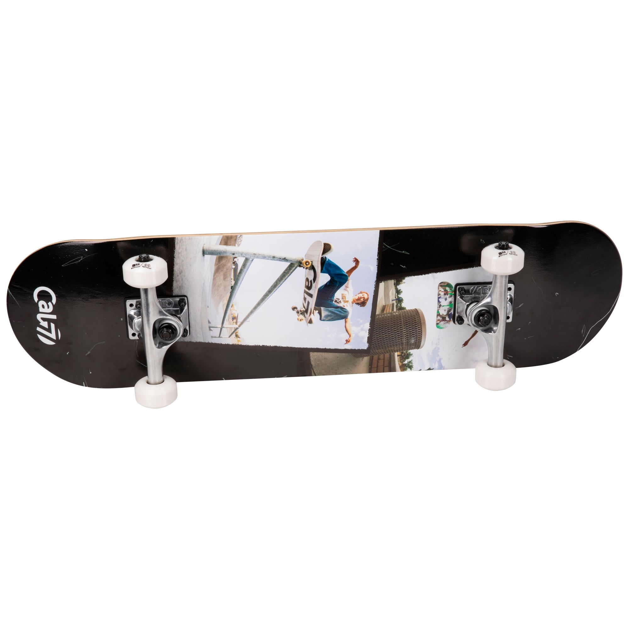 Cal 7 Complete 7.5/7.75/8-Inch Skateboard Perspective with Skateboarding Photograph Design