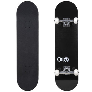Cal 7 Complete 7.5/7.75/8-Inch Skateboard Yang with Solid White Deck