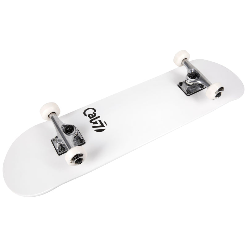 Cal 7 Complete 7.5/7.75/8-Inch Skateboard Yin with Logo, White Deck, Pink and Blue Accents